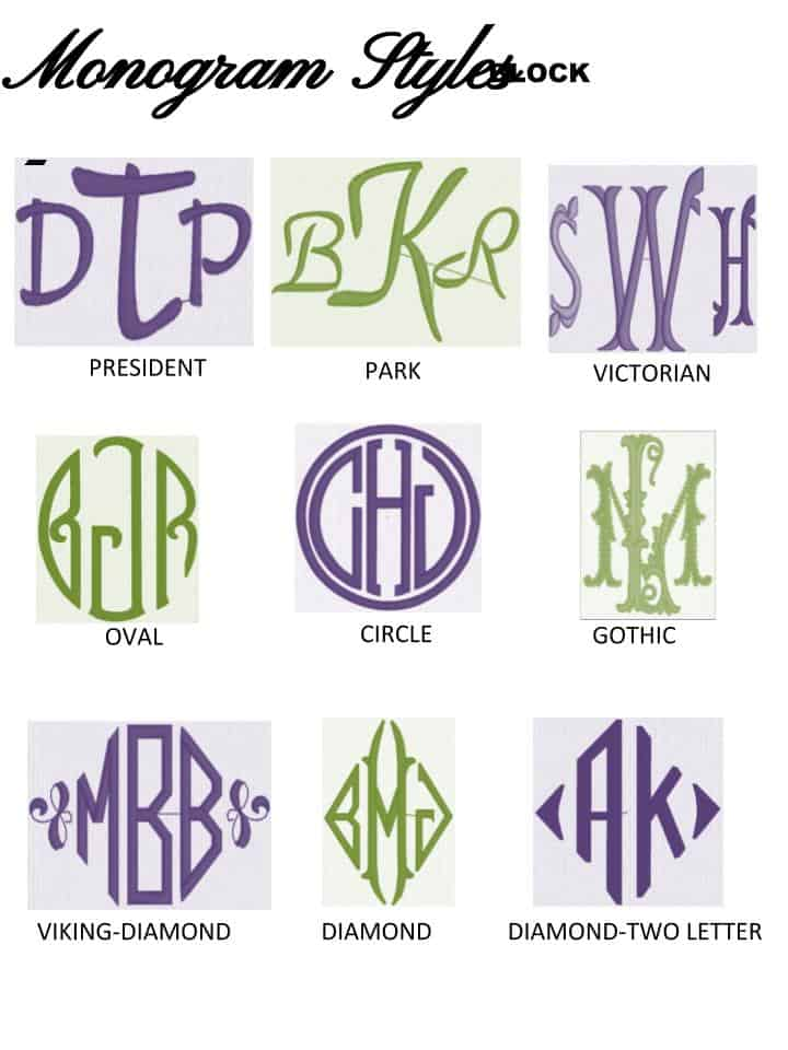Monogram Styles - Block - Alterations by Toni