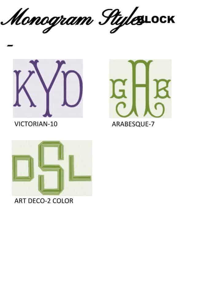Monogram Styles - Block - Alterations by Toni
