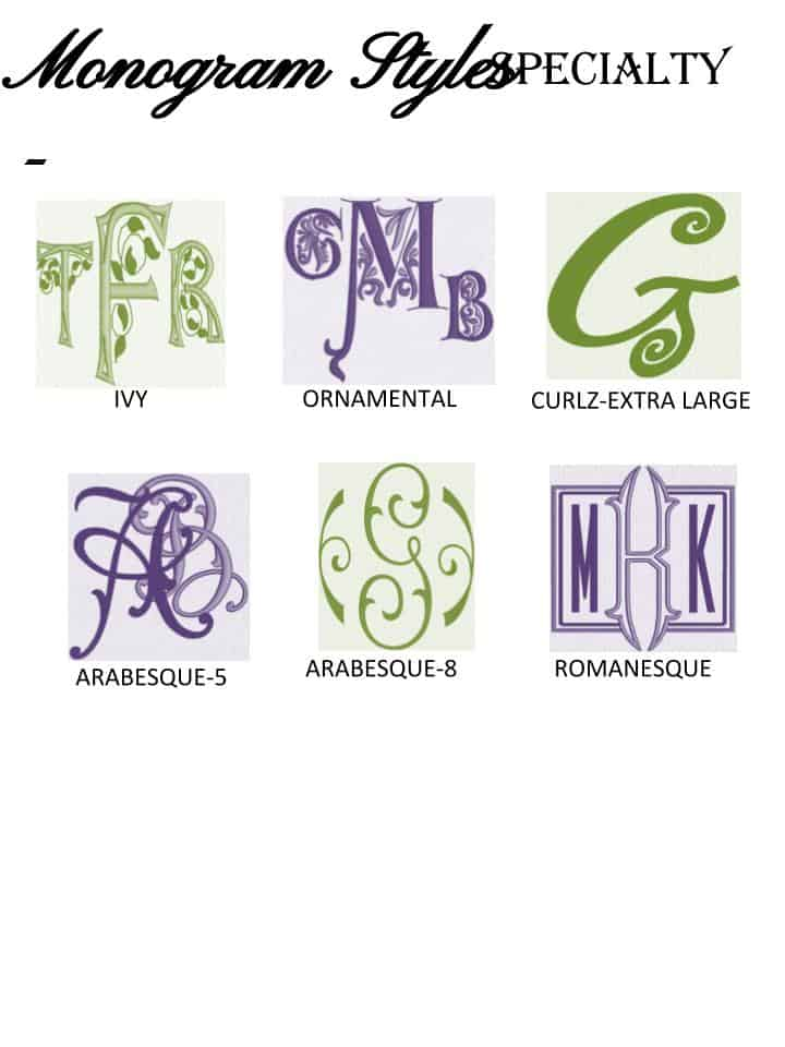 Monogram Styles - Speciality - Alterations by Toni
